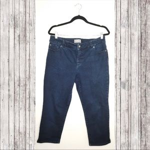 Chico's SO SLIMMING size 2 denim cropped jeans.